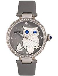 bf728f6801a0 Bertha Rosie BTHBR8800 - Reloj de Cuarzo con Esfera de búho para Mujer