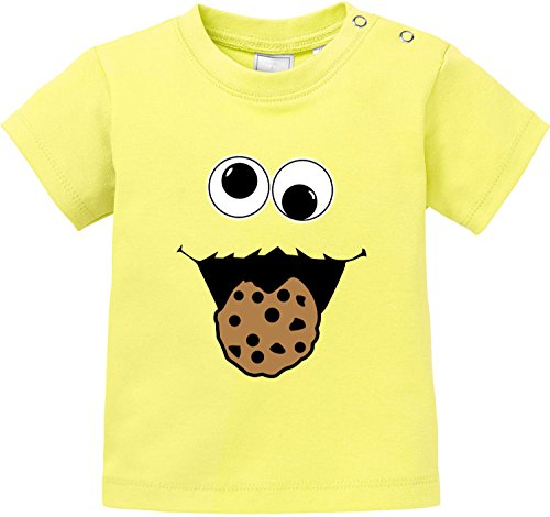 EZYshirt Cookie Monster Baby T-Shirt Bio Baumwolle
