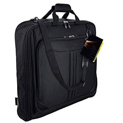 Kleidersack Anzughülle,Kleiderhülle Handgepäckstück für jede Reise Geschäftsreise - mit verstellbarem Schultergurt und mehreren Taschen,Business Reisen Flug Kleiderhülle Anzughülle Anzugsack Anzugkoff
