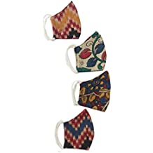 Artifie 100% Cotton Unisex Reusable Breathable Washable Eco friendly Kalamkari Mask Pack of 4