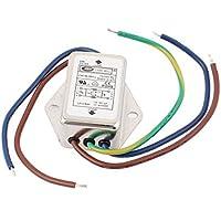 DealMux a15062900ux0583 6A de alimentación monofásica de ruido EMI Filtro CW1B-06A-L, AC 115V / 250V