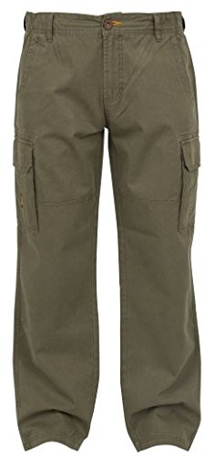Fox Chunk Heavy Twill Cargo Pants Hose Angelhose khaki, Anglerhose, Outdoorhose, braun, Größe:M
