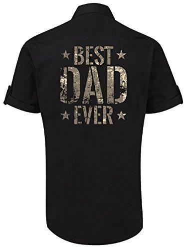Das Geschenk-Hemd für den coolen Papa nicht nur zum Vater-Tag: Best Dad Ever Schwarz