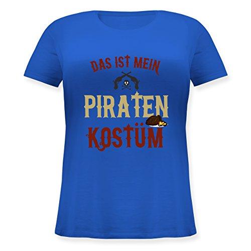 (Karneval & Fasching - Das ist Mein Piraten Kostüm - M (46) - Blau - JHK601 - Lockeres Damen-Shirt in großen Größen mit Rundhalsausschnitt)
