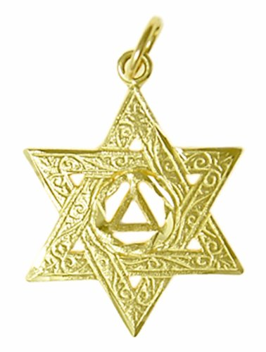 Necklaces Alcoholics Anonymous Recovery Pendant 518 4 Solid 14k