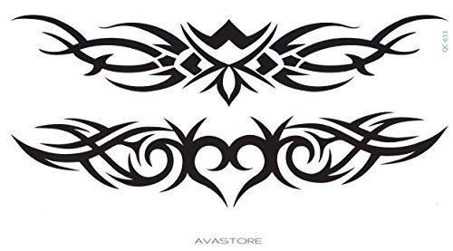 Tatuaggio temporaneo maori-tatuaggio ephémère maori-blister di 2tatuaggi nero-avastore -