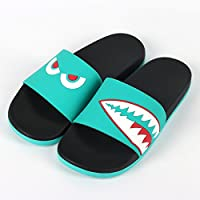fankou The Tide Personality Tide Slippers Male Students Inside and Outside The Home Bath Anti-Slip Bath Are Cool in The Summer and,42, Green