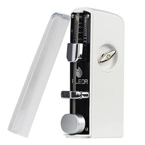 FLEOR Mini Mechanisches Metronom Spring Driven Traditionelle für Klavier Gitarre Violine Ukulele, schwarz weiß