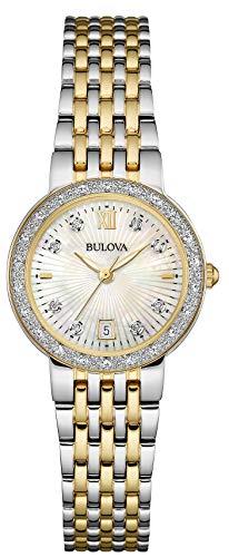 1 - Damen Designer-Armbanduhr - Stahl & Perlmutt - Zweifarbig mit Goldfarbe ()