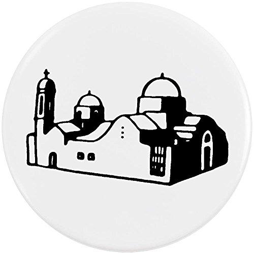 Azeeda 58mm 'Griechische Kirche' Pin Knopf-Abzeichen (BB00044473)