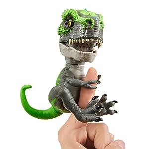 Wowwee- Tracker Fingerlings T-Rex, Color Verde/Gris (3788)