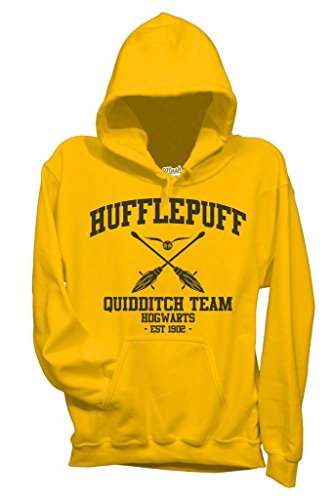 Felpa HUFFLEPUFF QUIDDITCH HARRY POTTER - FILM by Mush Dress Your Style Gialla