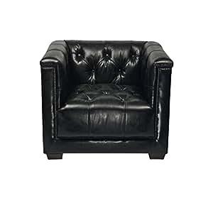 Aviator tomcat fauteuil cube en cuir noir