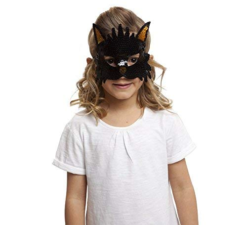 viving Kostüme viving costumes203589 Katze Pailletten Maske (One ()