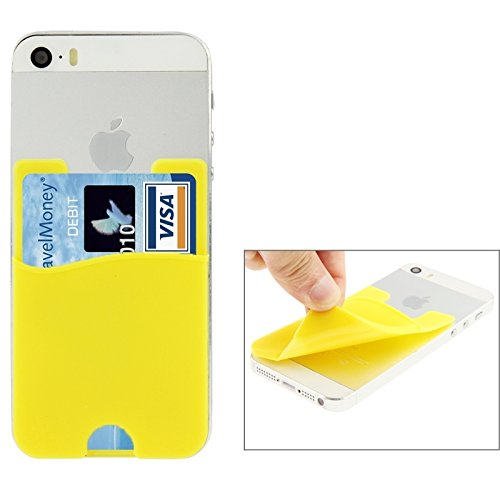 Phone case & Hülle Für iPhone 6 / 6S, iPhone 5 / 5C / 5S, iPhone 4 / 4S, und für alle Handys, Smart Wallet Silikon Card Pocket ( Color : Black ) Yellow