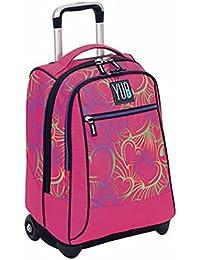 618027df71 Trolley YUB Murales Girl, 2in1, 34 Lt, Rosa, Zaino con spallacci a