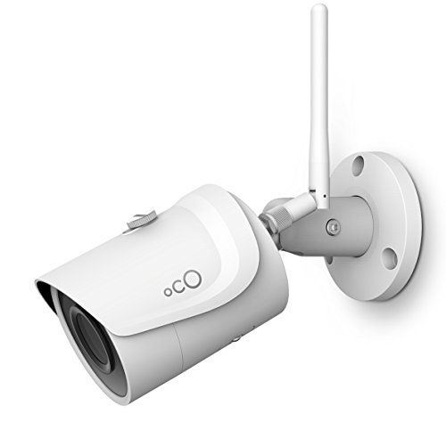 OCO Pro Bullet v2 Wi-Fi 1080p Wireless Security Camera with Micro SD Card Support and Cloud Storage - Weatherproof Outdoor / Indoor 3Mpx IP Surveillance System with Remote Monitoring and Night Vision