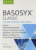SYXYL Basosyx Classic Tabletten / Nahrungsergänzungsmittel mit natriumfreien, basischen Mineralstoffverbindungen & Zink für einen ausgeglichenen Säure-Basen-Haushalt / 140 Tabletten im Blister