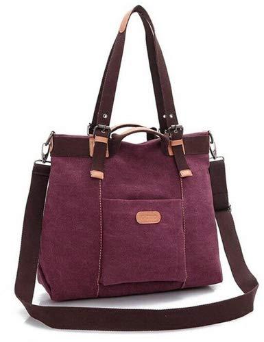 Women's Casual Canvas Top - HandBag / Shoulder Bag - Coffee