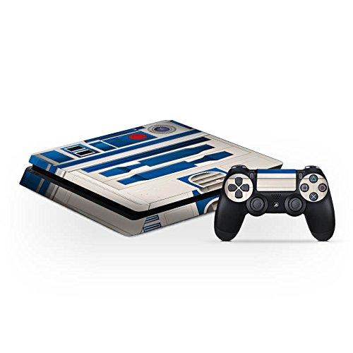 Preisvergleich Produktbild Sony Playstation 4 Slim PS4 Folie Skin Sticker aus Vinyl-Folie Aufkleber Star Wars Merchandise Fanartikel R2D2