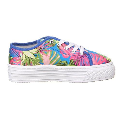 50756 Chaussures de loisirs pour femme Multicolore - Blau Multi