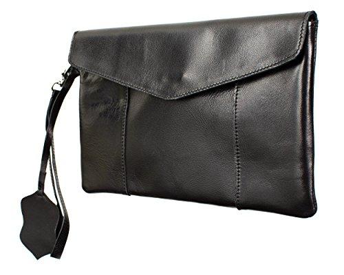 Joselle  Clutch vintage Bag A1011-1, Pochette pour femme Noir - Noir