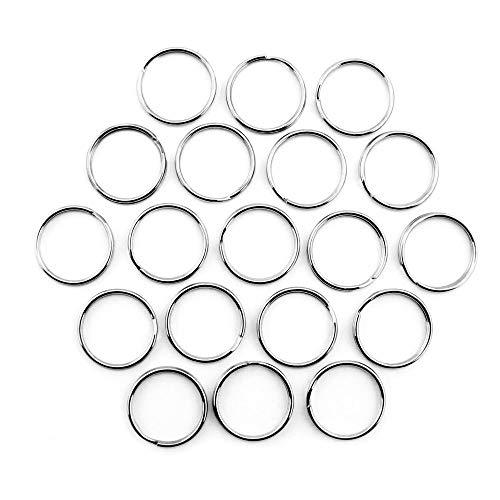Ruby- 150 Anillas para Llaves, Color Metal/Bronce. Envio urgente Gratis (Ø 25mm, Plateado)