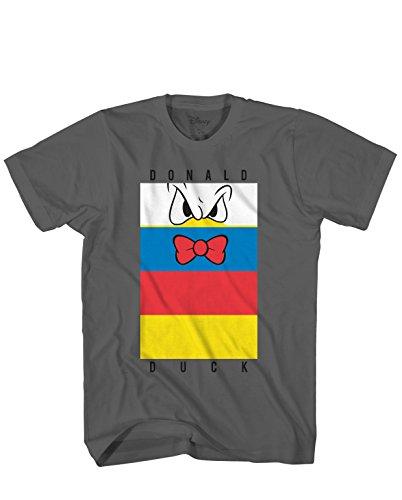 Donald Duck Herren T-Shirt Classic Vintage Disneyland World - Grau - X-Groß
