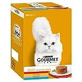 Gourmet Gold Pikante Kuchen Fleisch Katzenfutter-Dosen 12 x 85g