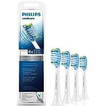 Philips Sonicare HX9044/07 Original AdaptiveClean Aufsteckbürsten Standard, 4er Pack, weiß