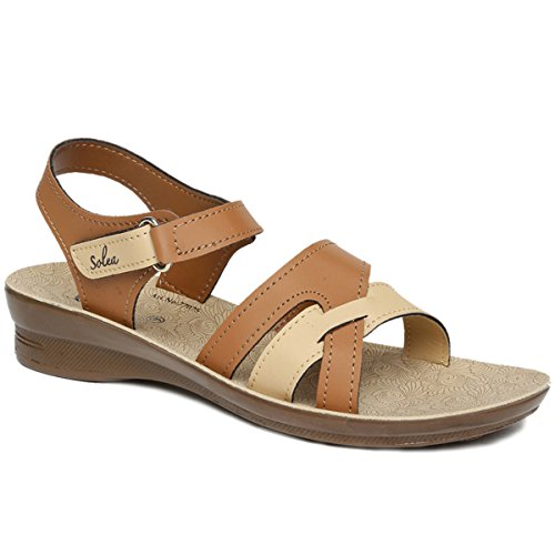 Paragon Women's Brown Sandal-5 UK/India (38 EU)(PU77075L)
