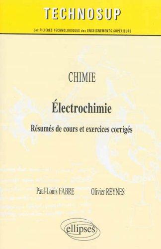Chimie Électrochimie Résumés de Cours et Exercices Corrigés Niveau A