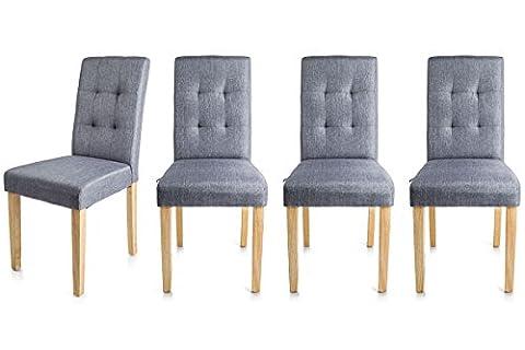 Homekraft EIKO Esszimmerstuhl Wohnzimmerstuhl Küchenstuhl Sitzgruppe Stühle 4er Set