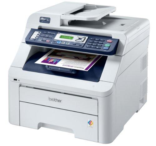Brother MFC-9320CW 4-in-1 Farblaser-Multifunktionsgerät (Scanner, Kopierer, Drucker, Fax) weiß - Brother Mfc9320cw Drucker