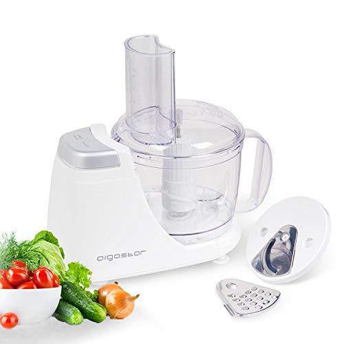 Aigostar VitaFresh 30HLX - Procesador de alimentos 3 en 1, potencia 250 W, incluye 3 cuchillas con distintas funciones y jarra con capacidad de 720 ml. Libre de BPA. Diseño exclusivo.
