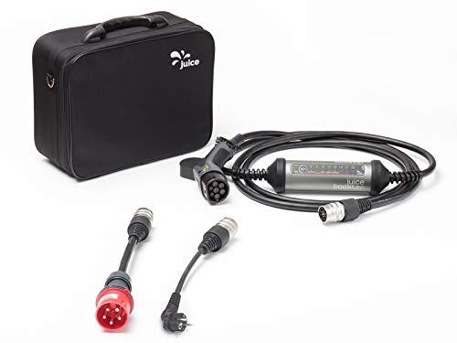 Juice Booster 2 EV Ladegerät mit Adaptern - 22kW, 32A 3-Phasig, 1-Phasig Typ 2 AC  Basic Set incl. Adapter CEE32 und CEE 7/7 (Schuko) (EU)