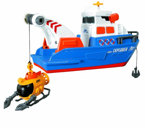 Dickie Toys 203308361 - Action Series Explorer Boat, Boot inklusive U-Boot, 33 cm