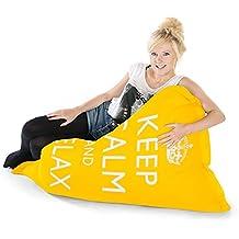 Guarde La Calma Esponjosos Bolsas De Frijoles Para Adultos Puff Squarbie - Amarillo
