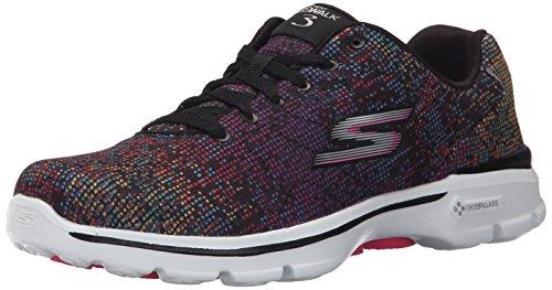 Skechers prestazioni delle donne Go camminata 3 digitize Walking Shoe Black/Multi