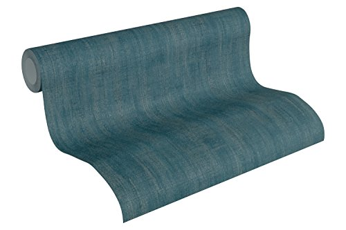 A.S. Création Vliestapete Urban Life Tapete Ethno Look 10,05 m x 0,53 m blau metallic Made in Germany 327122 32712-2 -