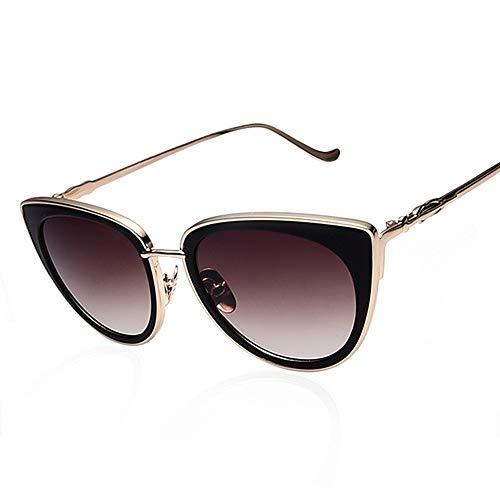 Sxuefang Frauen Sonnenbrillen Metallrahmen Cat Eye Weibliche Sonnenbrillen Berühmte Legierung Beine Brille