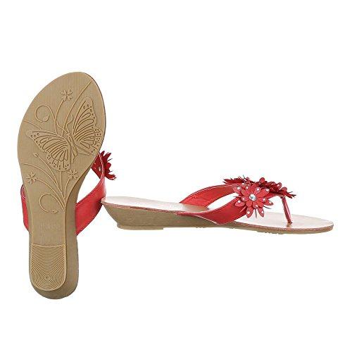 Ital-Design - Scarpe peep toe Donna Rot