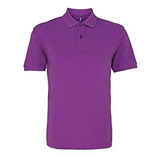 Asquith & Fox Mens Plain Short Sleeve Polo Shirt (XL) (Orchid)