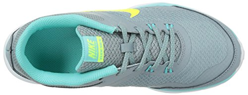 Nike Flex Trainer 4, Chaussures de Fitness Femme Dove Grey/Light Aqua/Teal Tint/Volt