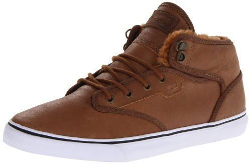 Globe Herren Motley Mid Skate Schuh Distressed Brown Faux Fur