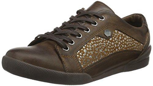 Andrea Conti 0342718, Sneaker Basse Donna Marrone (Braun (dunkelbraun 061))