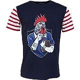 Religion Rugby - T-Shirt de Rugby Marinière - Le Coq tatoué - L