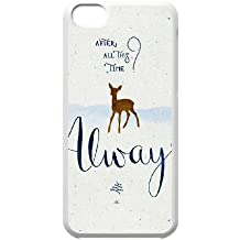 iPhone 5c Cell Phone Case White Always Quote Harry Potter Custom Case Cover QW8I558104