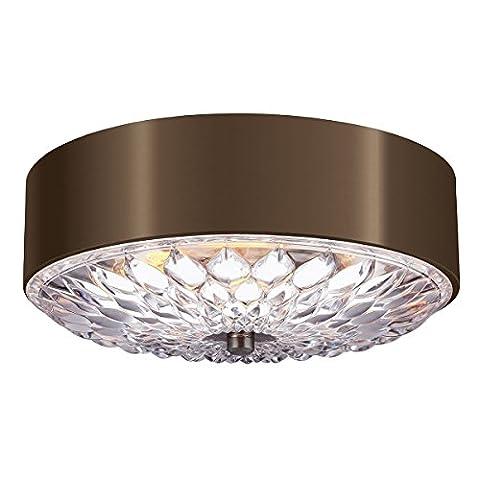 Hana - Elegant Medium Flush Mount Ceiling Light - Dark Aged Brass