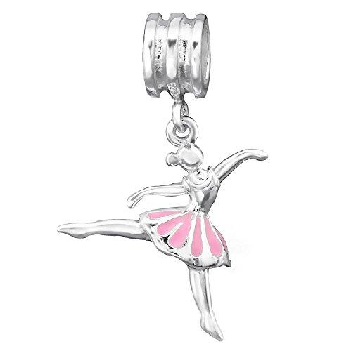 arm Damp Tutu Star Tänzer rosa Rose 925 - Für Pandora, Trollbeads, Chamilia, Biagi-Schmuck Geeigneter Charms-Anhänger (Star Tutu)
